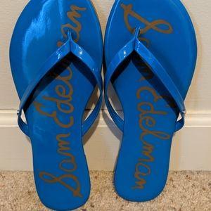 Sam Edelman Blue Oliver Flip Flops size 8.5